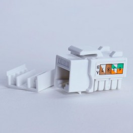 Moduł keystone UTP cat. 5e (RJ-45) 90° biały Digitalbox