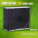 Pudełko na 1CD - Czarny Tray - Pakiet 5 szt.