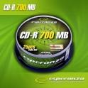 CD-R ESPERANZA 56x 700MB (Cake 25) SILVER