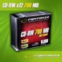 CD-RW ESPERANZA 12x 700MB (Slim 10) 80MIN