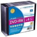 DVD+RW ESPERANZA 4x 4,7GB (Slim 10)