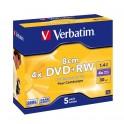 DVD+RW Verbatim 8cm 4x 1.4 GB (Jewel Case 5) MATT SILVER
