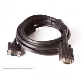 Kabel VGA M-M 3m BASIC.LNK (2*ferryt, potrójny ekran, miedź)