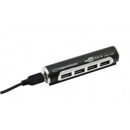 Esperanza Hub 4 Porty USB 2.0 Aluminium EA115