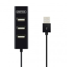 Hub Unitek 4x USB 2.0 mini czarny Y-2140