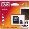 Karta pamięci MicroSDHC GOODRAM 4GB Class4 + Adapter